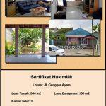 Rumah Dijual Murah di Poros Jalan Raya Cengger Ayam Bantaran Malang